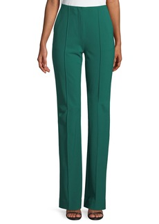 Diane Von Furstenberg Woven Wool-Stretch Pleated Pants