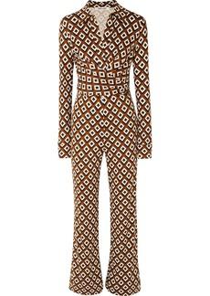 Diane Von Furstenberg Wrap-effect Printed Silk-jersey Jumpsuit