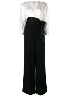 Diane Von Furstenberg wrap front contrasting jumpsuit