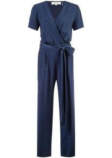 Diane Von Furstenberg wrap front jumpsuit