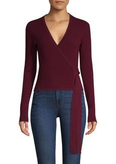 Diane Von Furstenberg Wrap-Front Knit Sweater
