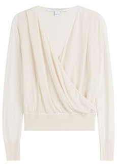 Diane Von Furstenberg Wrapped Knit Top