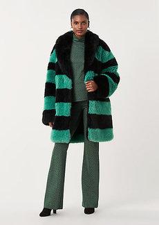 Diane Von Furstenberg Zayla Striped Faux Fur