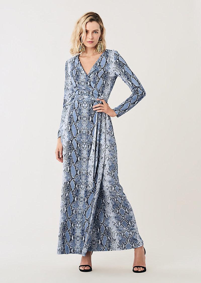 New Julian Silk-Jersey Maxi Wrap Dress
