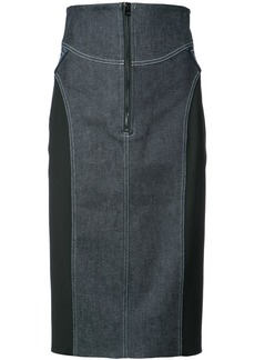 Diane Von Furstenberg zip denim skirt