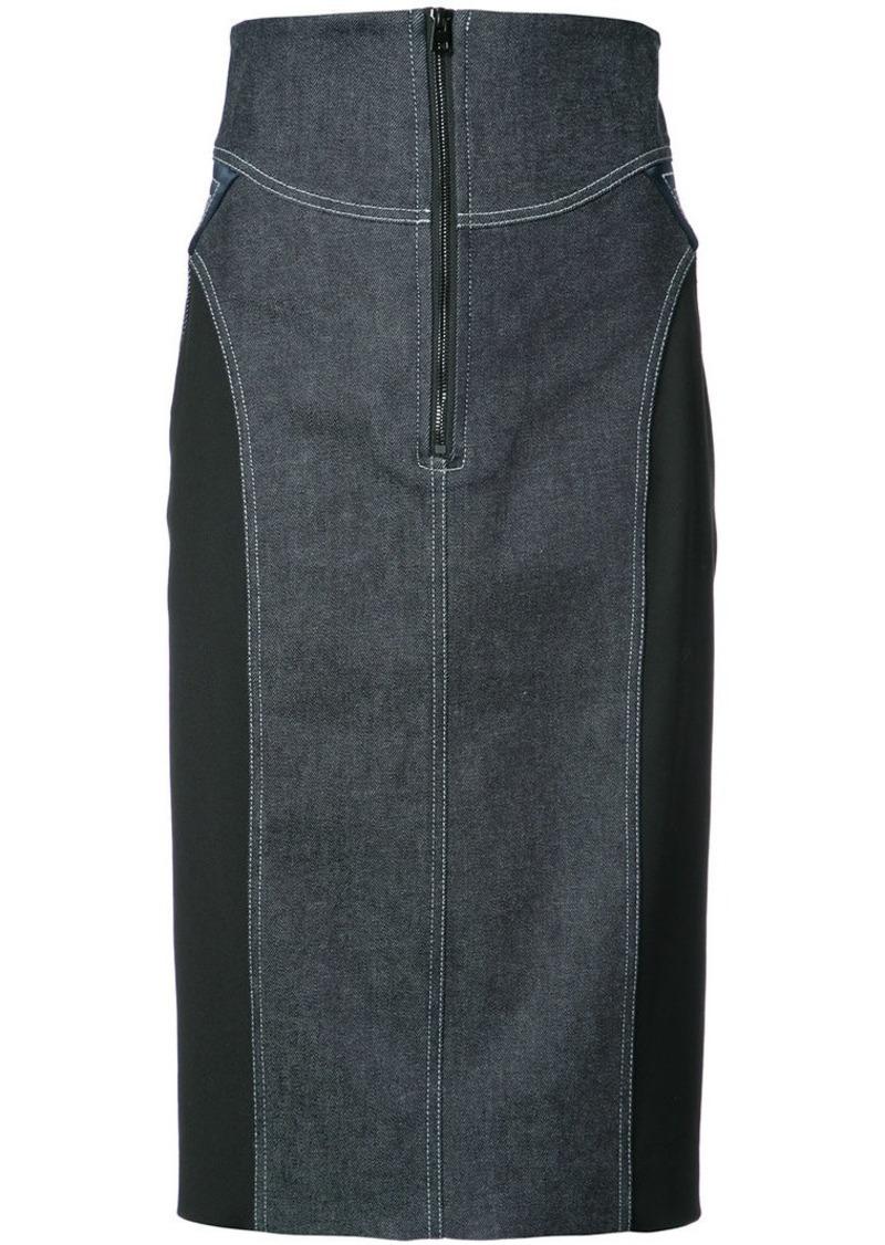 Diane Von Furstenberg zip denim skirt