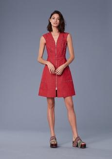 Diane Von Furstenberg Zip Front Sheath Denim Dress