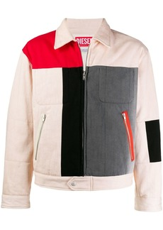 Diesel colour-block jacket