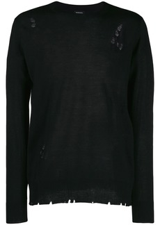 Diesel distressed knit jumper