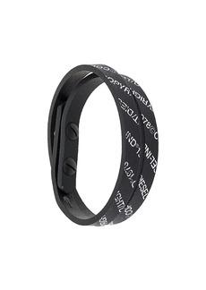Diesel A-Ever logo-print bracelet
