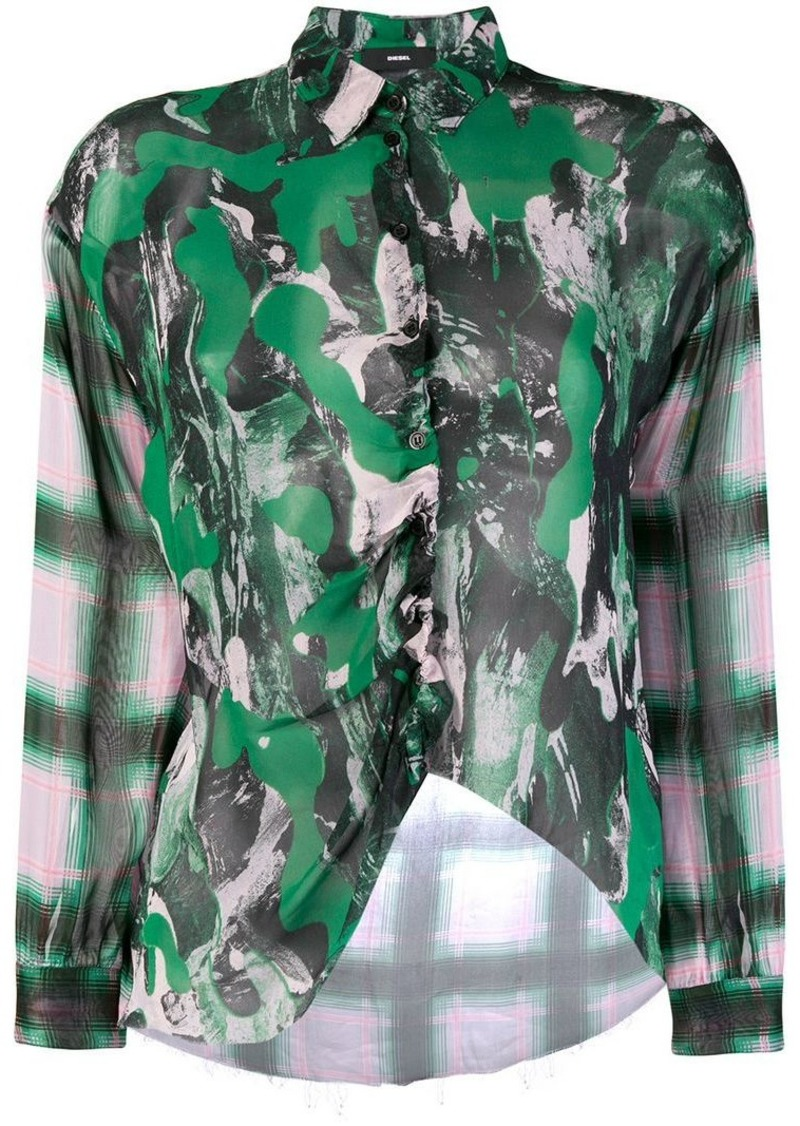 Diesel abstract print shirt
