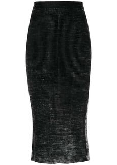 Diesel acid wash midi skirt