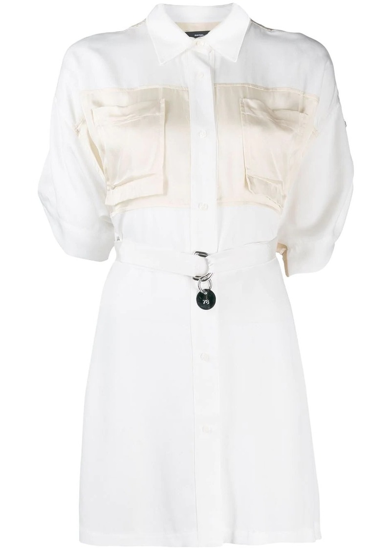 Diesel adjustable shirt dress