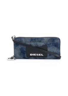 Diesel Allium denim zip-around wallet