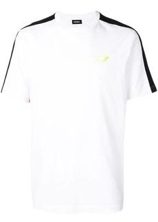 Diesel appliqué stripes T-shirt