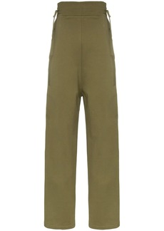 Diesel army green high waisted buttoned side track pants