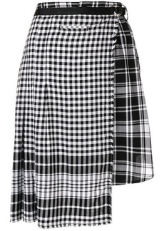 Diesel asymmetric checked skirt