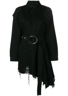 Diesel asymmetric shirt dress