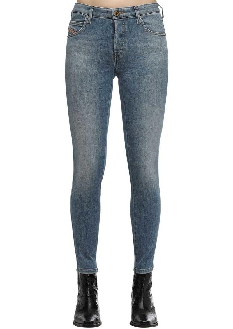 Diesel Babhila Cropped Cotton Denim Jeans
