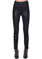 Diesel Babhila Skinny Waxed Cotton Denim Jeans