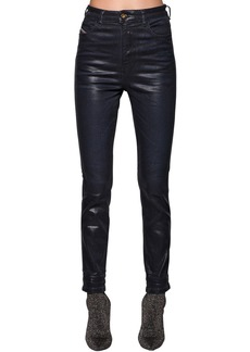 Diesel Babhila Skinny Waxed Cotton Denim Jeans