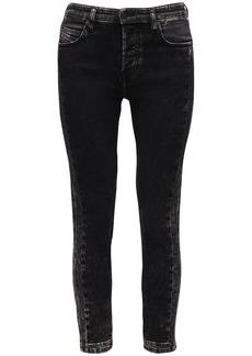 Diesel Babhila Straight Skinny Washed Jeans
