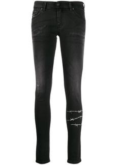 Diesel barbed wire skinny jeans