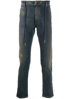 Diesel belted slim high-rise jeans