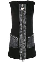 Diesel bi-material sleeveless mini dress