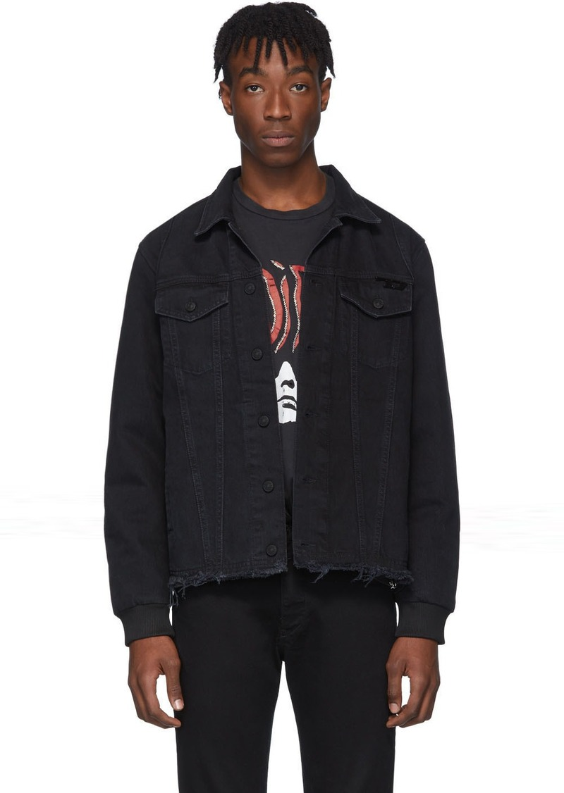 Diesel Black Denim D-Grey Blit Jacket