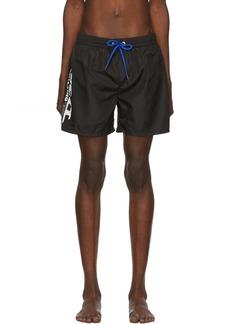 Diesel Black Fold & Go Wave Swim Shorts