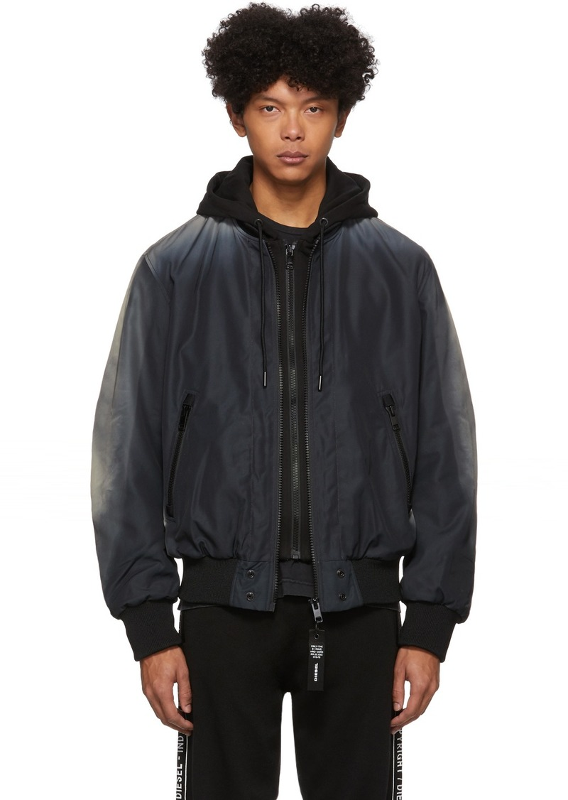 Diesel Black J-Forest Bomber Jacket