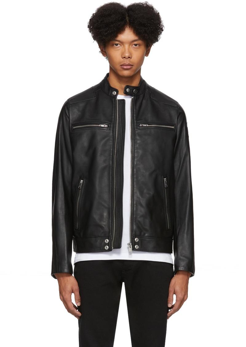 Diesel Black Leather L-Boy Jacket