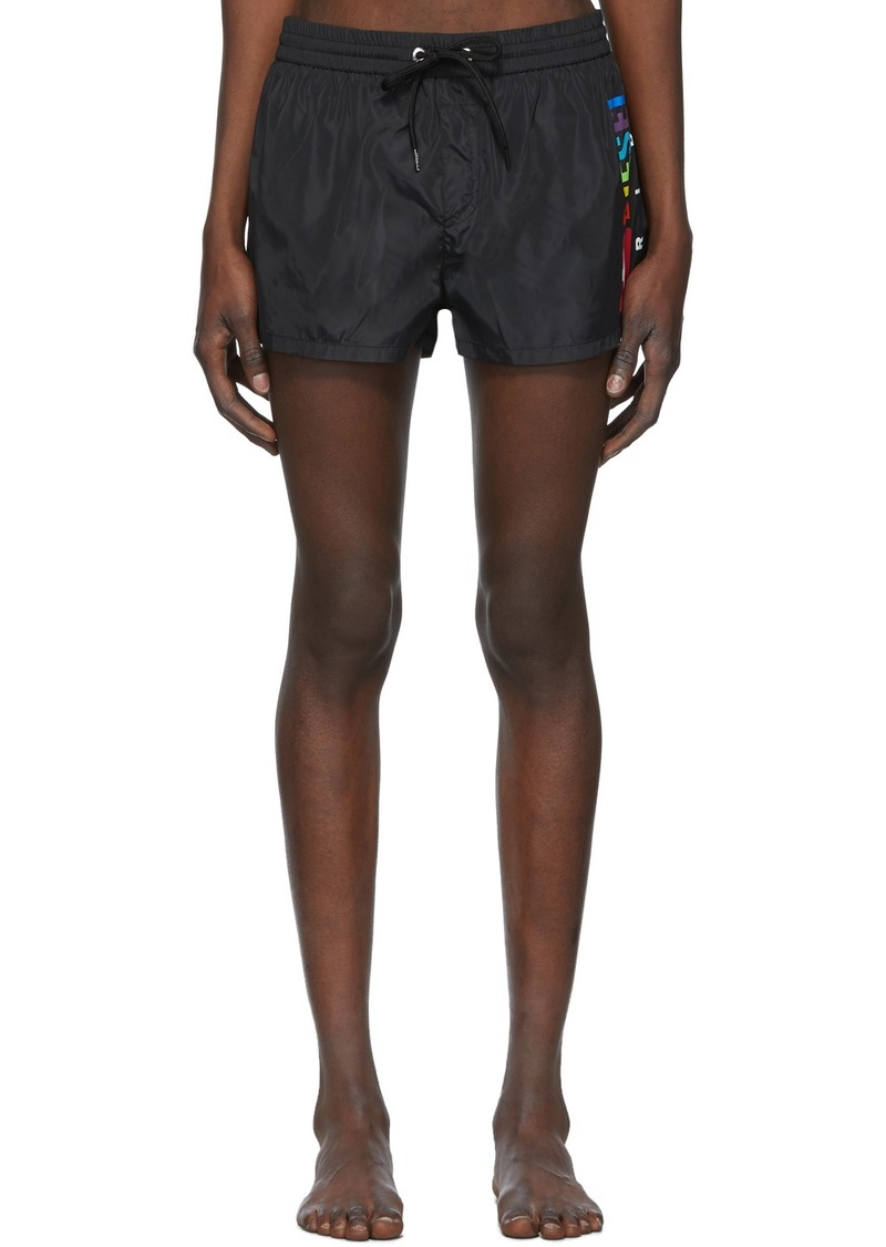 Diesel Black Sandy Rainbow Swim Shorts