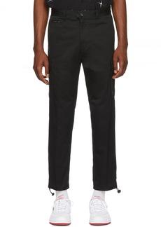 Diesel Black Twill Cargo Pants