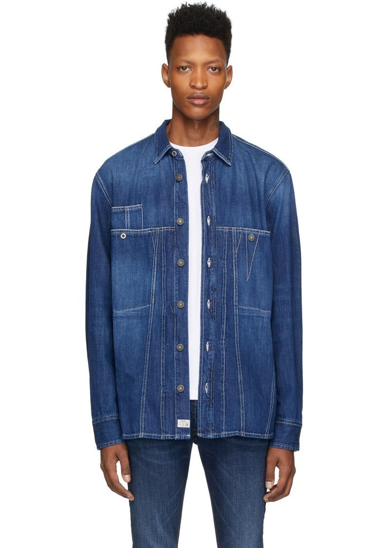 Diesel Blue Denim D-Blue Flox Shirt
