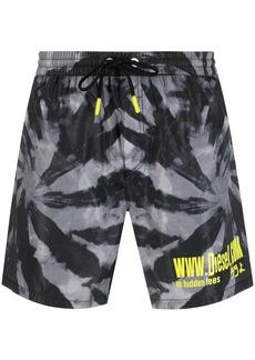 Diesel BMBX-WAVE 2.017 tie-dye swim shorts