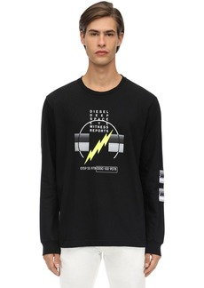 Diesel Bolt Print Jersey Long Sleeve T-shirt