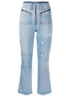 Diesel bootcut cropped denim jeans
