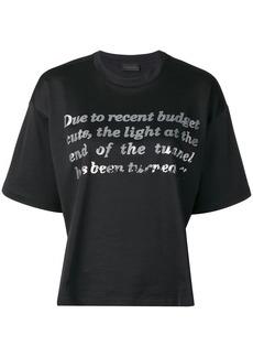 Diesel boxy T-Shirt with tonal foil print