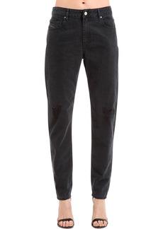 Diesel Boyfriend Distressed Cotton Denim Jeans