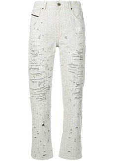 Diesel boyfriend jeans with lasered treatment