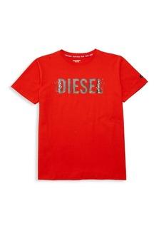Diesel Boy's Cotton Logo Tee