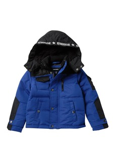 Diesel Bubble Jacket with Faux Fur Lining (Toddler & Little Boys)