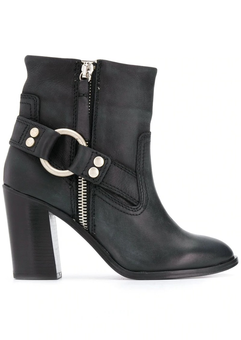 Diesel buckle-detail ankle boots
