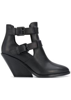 Diesel buckle-embellished ankle boots