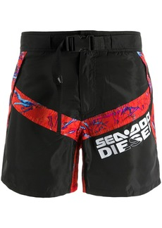 Diesel x Sea-Doo buckle strap swim shorts