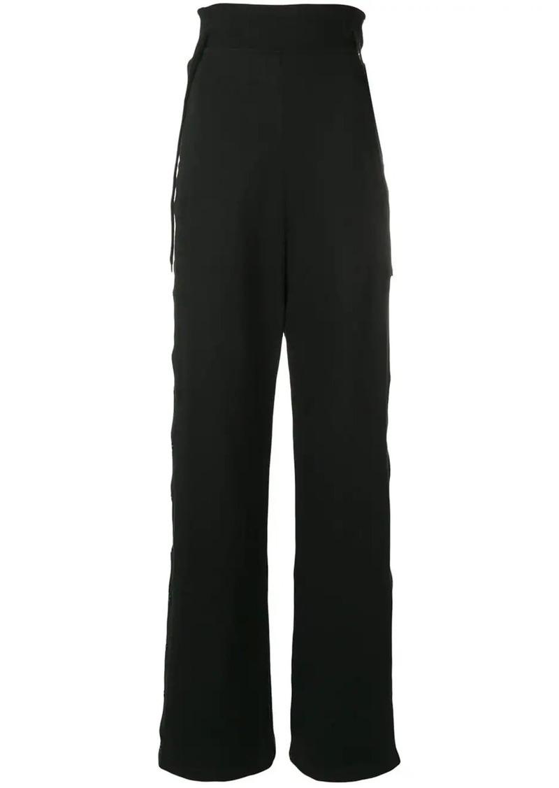 Diesel buttoned wide leg track pants