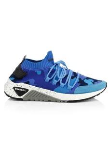 Diesel Camo Knit Sneakers
