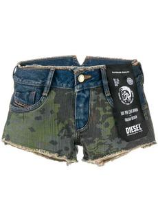 Diesel Camo short shorts